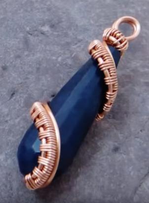 Quick Wire Woven Pendant