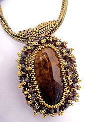 BezelWorks Pendant with Brown Fire Opal