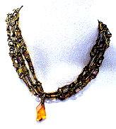 Greek Key Pattern Chain Necklace